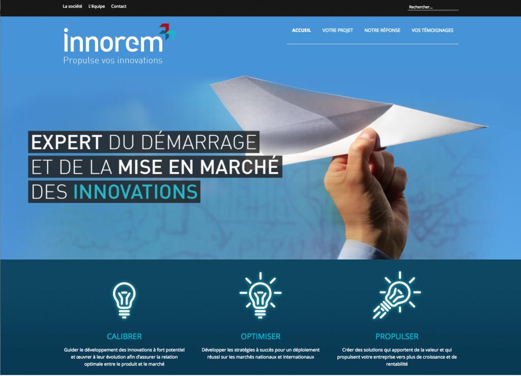 Innorem / Site web / Intégration WordPress / 2016